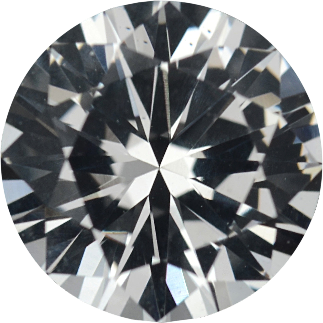 Good Looking Round Cut Loose White Sapphire Gem, Near Colorless, 6.79 mm, 1.33 carats
