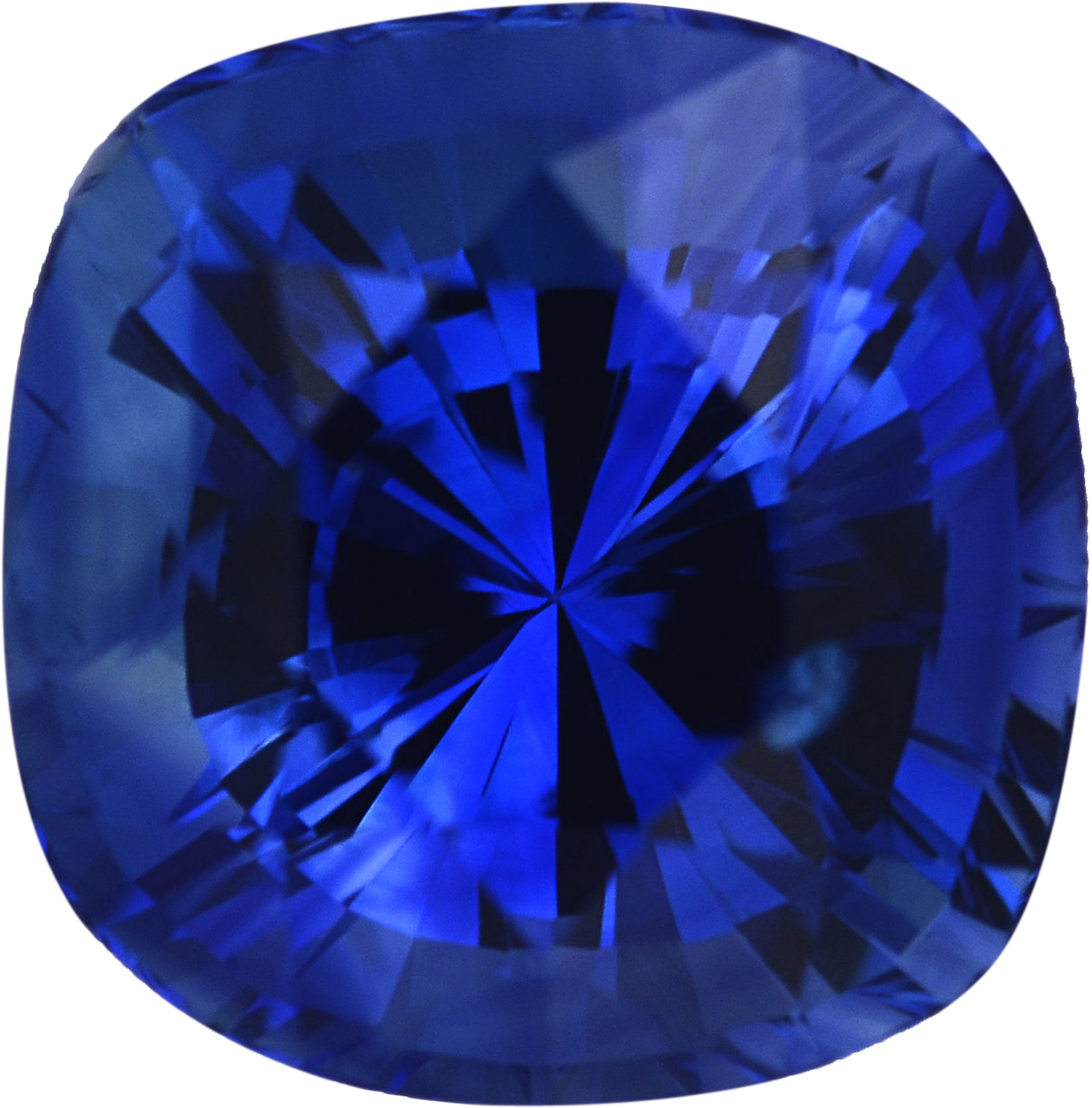 Good Looking Sapphire Loose Gem in Antique Square Cut, Vibrant Violet Blue, 6.16 x 6.02  mm, 1.38 Carats