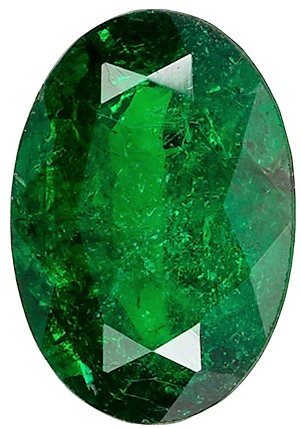 Gorgeous 0.65 carat Emerald Low Price Rich Green Gemstone, Oval shape, 7.0 x 4.9  mm