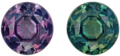 Gorgeous Alexandrite Genuine Gemstone, 4.3 mm, Blue Green to Burgundy, Round Cut, 0.36 carats