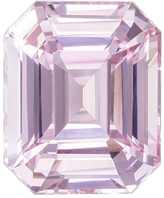 Gorgeous Baby Pink No Heat GIA Certified Pink Sapphire Genuine Gemstone, 8.94 x 7.28 x 5.02 mm, Vivid Baby Pink, Emerald Cut, 3.1 carats