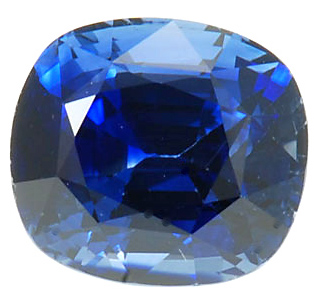 Gorgeous Bargain Price Cushion Vivid Blue Sapphire 4.08 carats at AfricaGems