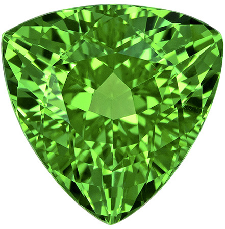 Gorgeous Brilliant Loose Trillion Tsavorite Fiery Grass Green Color in Large 8.0 mm, 2.61 carats
