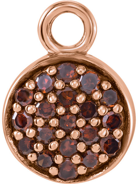 Gorgeous Colors in 14kt Rose Gold 1/10ctw Brown Diamond Cluster Dangle for SALE