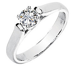 Gorgeous Created Moissanite Engagement Solitaire Ring for SALE - Round Center - Metal Type Options