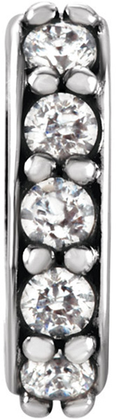 Gorgeous Diamond Accented Preset Bail  Choose Metal Type & Bail Inside Dimensions