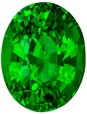 Gorgeous Green Tsavorite Garnet 2.03 carats, Oval shape gemstone, 8.5 x 6.5  mm