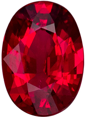 Gorgeous GRS Certified Ruby Loose Gem, 7.78 x 5.59 x 3.33 mm, Pigeon's Blood Red, Oval Cut, 1.21 carats