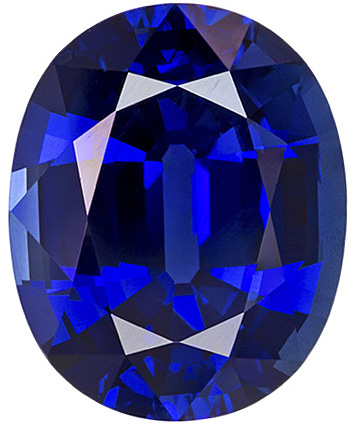 Gorgeous Large Sapphire in Intense Blue Color from Madagascar, 11.2 x 9.0 mm, 4.95 carats