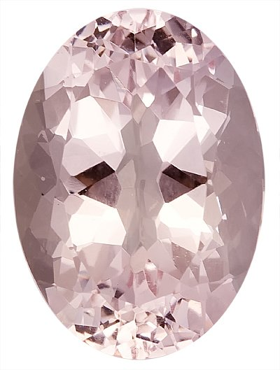 Gorgeous Large Unheated Genuine Morganite Gem, Oval Cut, 19.4 x 13.9 mm, 16.12 carats