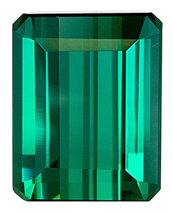 Gorgeous, Open Blue Green  Brazilian Tourmaline Natural Gem for SALE, Emerald  Cut, 3.84 carats