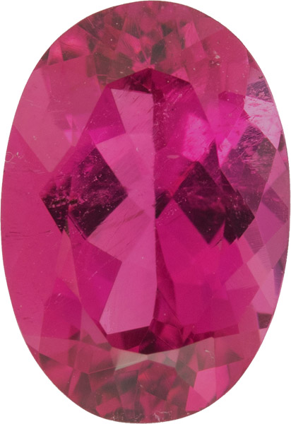 Gorgeous Oval German Cut Loose Tourmaline Gemstone in Bright Reddish Pink, 11.1 x 8.0 mm, 3.21 carats