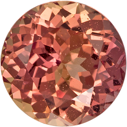 Gorgeous Peachy Pink Loose Cut Sapphire Round Shape Gem with GIA Certificate, 5.99 mm, 1.15 carats