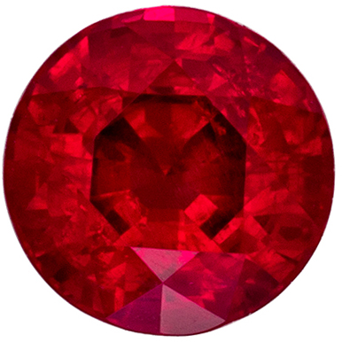 Gorgeous Ruby Loose Gem, 5.9 mm, Pure Rich Red, Round Cut, 1.13 carats