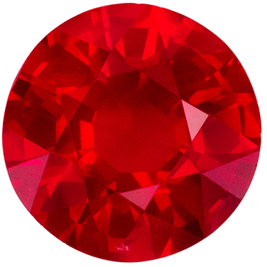 Gorgeous Ruby Round Cut Loose Gemstone Medium Rich Red, 6.3 mm, 1.12 carats
