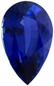 Gorgeous Sapphire Loose Gem in Pear Cut, Vibrant Violet Blue, 11.67 x 7.18 mm, 2.95 Carats