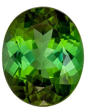Gorgeous Stone in 11.8 x 9.7 mm Tourmaline Loose Genuine Gemstone in Oval Cut, Medium Green, 4.64 carats