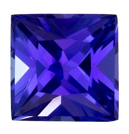 Gorgeous Stone in 5.6 mm Tanzanite Loose Gemstone in Princess Cut, Rich Blue Purple, 0.97 carats