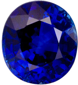 Gorgeous Stone in 6.7 x 6 mm Sapphire Loose Gemstone in Oval Cut, Medium Blue, 1.48 carats