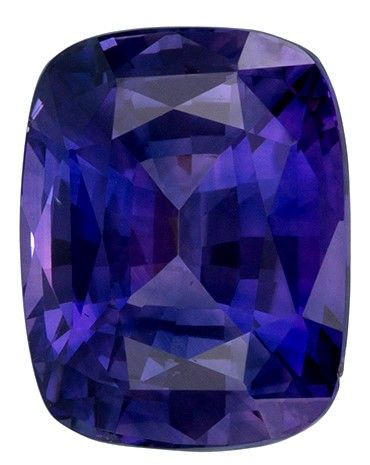 Gorgeous Stone in 9.1 x 7.1 mm Sapphire Loose Gemstone in Cushion Cut, Violet Purple, 3.18 carats