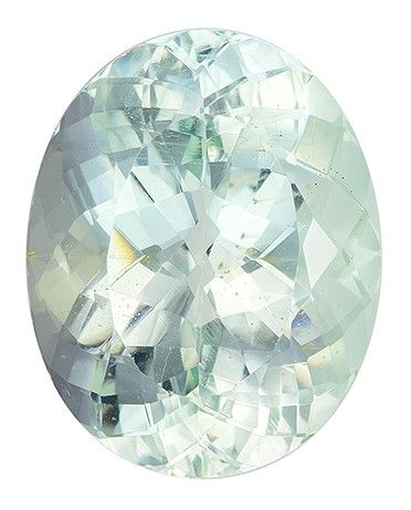 Gorgeous Stone in 9.73 carats Green Beryl Loose Gemstone in Oval Cut, Seafoam Green, 16.3 x 12.9 mm