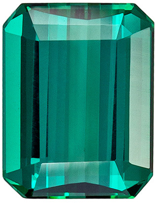 Deal on Loose Blue Green Tourmaline Gem in a Teal Blue Green Color in Emerald Cut, 9.5 x 7.4 mm, 2.92 carats