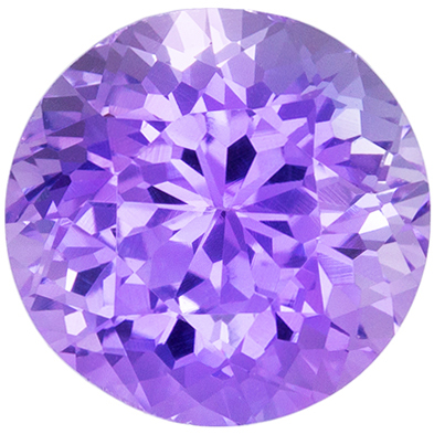 Gorgeous Unheated GIA Certified Purple Sapphire Genuine Gemstone, 8.05 x 8.23 x 5.99 mm, Rich Lavender Purple, Round Cut, 2.95 carats