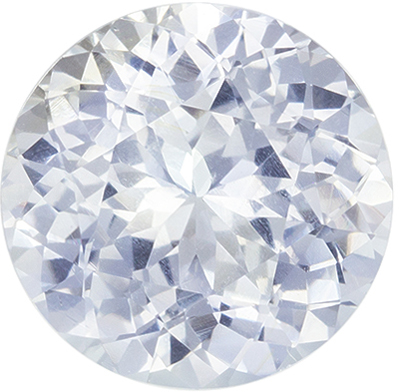 Gorgeous Unheated GIA Certified White Sapphire Genuine Gemstone, 7.43 x 7.54 x 4.54 mm, Very Colorless White, Round Cut, 1.89 carats
