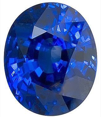 Graceful Blue Sapphire Genuine Gemstone for SALE, GRS Cert, Oval Cut, 3.22 carats