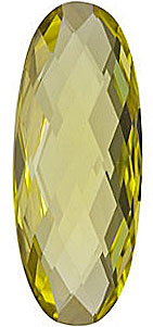 Grade AA - Double Sided Checkerboard Oval Genuine Lemon Quartz 25.00 x 10.00 mm to 30.00 x 10.00 mm