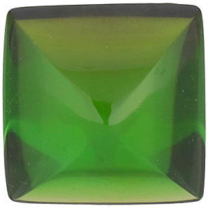 Grade AA - Square Genuine Green Tourmaline 3.00 mm to 6.00 mm