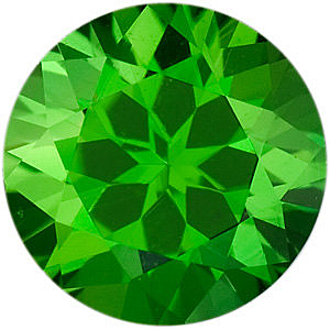 Grade AAA - Round Genuine Chrome Tourmaline 2.00 mm to 6.50 mm