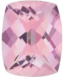 Grade AAA - Swarovski Gems Checkerboard Antique Cushion Genuine Baby Pink Passion Topaz 6.00 x 4.00 mm to 10.00 x 8.00 mm