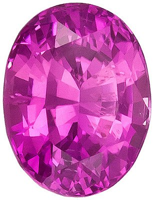 Great Bright Color on Pink Sapphire Stone from Sri Lanka, Oval cut, 0.95 carats