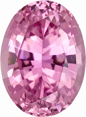 Great Buy! Extremely Clean Icy Pink Sapphire Natural Gemstone for SALE, Oval Cut, 1.58 carats