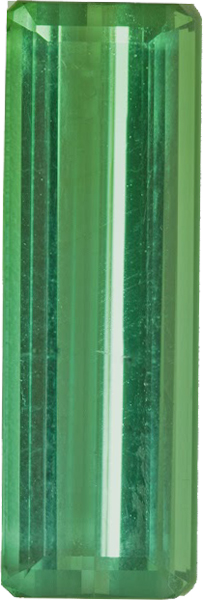 Great Buy in Fine Cut Genuine Mint Green Tourmaline Gemstone in 17.6 x 5.6 mm, 3.8 carats