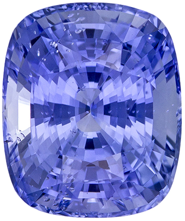 Great Buy in Large Beautiful Cut Blue Cornflower Ceylon Sapphire in Cushion Cut in Cornflower Blue Color, 11 x 9.2 mm, 6.45 carats