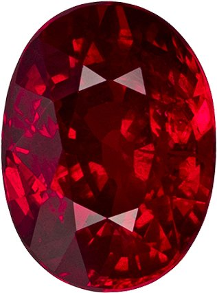 Great Buy in Loose Ruby Oval Cut, Vivid Intense Pure Red Color, 8.1 x 6.0 mm, 2.12 carats - SOLD