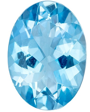 Great Buy on This Stone  Blue Aqua Genuine Gemstone, 0.66 carats, Oval Shape, 7 x 5.1 mm
