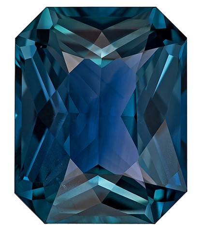Great Buy on This Stone  Blue Green Sapphire Genuine Gemstone, 5.63 carats, Radiant Shape, 11.5 x 9.15 x 5.51 mm  with  GIA Certificate
