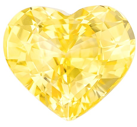 Great Buy on This Stone  Heart Cut Genuine Yellow Sapphire Gemstone, 2.02 carats, 7.9 x 6.8 mm , Very Bright Gem