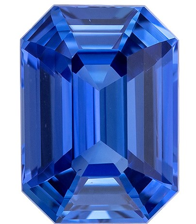 Great Buy on This Stone Octagon Cut Faceted Blue Sapphire Loose Gemstone, 1.06 carats, 6.6 x 4.8 mm , A Great Deal