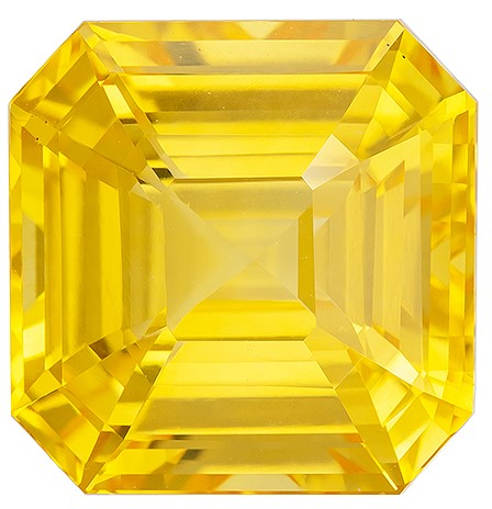 Great Buy on This Stone Asscher Cut Gorgeous Yellow Sapphire Loose Gemstone, 16.53 carats, 13.67 x 13.49 x 9.11 mm with GIA Certificate, Perfect Ring Stone