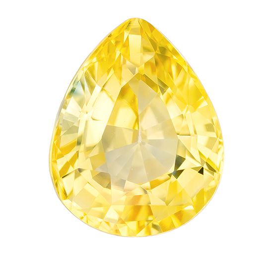 Great Buy on This Stone  Pear Cut Faceted Yellow Sapphire Gemstone, 2.08 carats, 8.5 x 6.7 mm , Stunning Cut