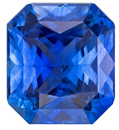 Great Buy on This Stone  Radiant Cut Faceted Blue Sapphire Loose Gemstone, 3.11 carats, 8.5 x 7.6 mm , A Great Deal