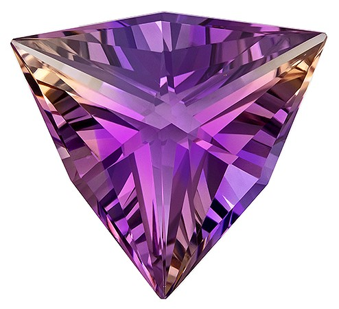 Great Buy on This Stone Trillion Cut Faceted Ametrine Gemstone, 9.19 carats, 17.2 mm , Stunning Cut