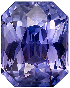 Great Color, Very Livley Unheated Purple Sapphire Gemstone for SALE, Radiant Cut, 2.83 carats