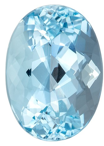 Great Colored Gem Blue Aqua Genuine Gemstone, 2.36 carats, Oval Shape, 10.1 x 7.3 mm