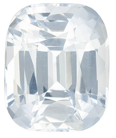 Great Colored Gem  Cushion Cut Gorgeous White Sapphire Loose Gemstone, 5.05 carats, 10.3 x 8.4 mm , Such Color