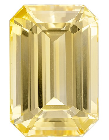 Great Colored Gem Octagon  Cut Loose Yellow Sapphire Gemstone, 7.07 carats, 12.53 x 8.46 x 6.13 mm with GIA Certificate, Stunning Fine Stone